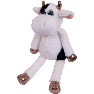 Мягая игрушка  Коровка с ресничками ABtoys. Цвет: разноцветный