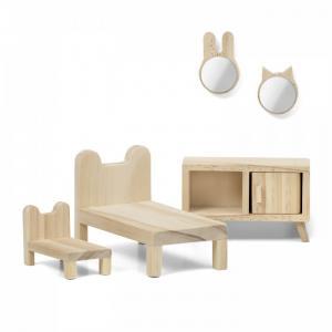 Набор деревянной мебели для домика Сделай сам Спальня Lundby