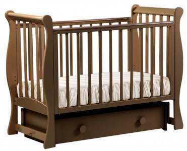 Детская кроватка  АБ 21.2 Лаванда маятник поперечный с ящиком Кубаньлесстрой