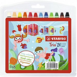 Набор масляных пастелей  Stabilo 24 цвета. Цвет: разноцветный