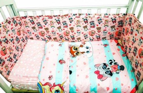 Комплект в кроватку  Малыши девочки (6 предметов) Сонная сказка