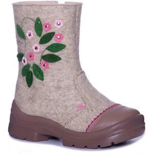 Валенки  Лютики-цветочки Филипок. Цвет: бежевый