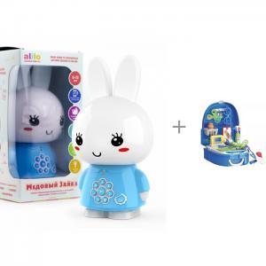Интерактивная игрушка  Медовый зайка G6+ с функцией Bluetooth и игрушки в чемодане Bondibon Доктор Alilo