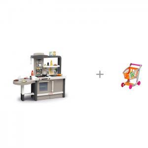 Растущая Кухня Tefal Evolutive пузырьки (40 аксессуаров) с тележкой продуктами 1225 Smoby