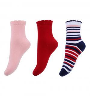Комплект носки 3 пары  Английский завтрак, цвет: розовый/синий Play Today