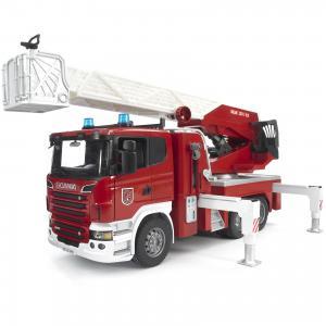 Пожарная машина  Scania с выдвижной лестницей и помпой Bruder