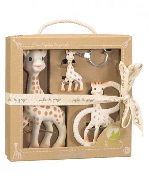 Подарочный набор 3 в 1 Жирафик Софи Sophie la girafe