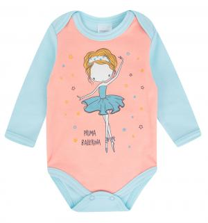 Боди  Балерины, цвет: голубой/розовый Newborn