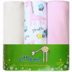 Пеленка  Жираф 120х90 3 шт. Little me