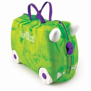 Детский чемодан на колесах Транкозавр зеленый saurus Rex Trunki Trunkisaurus
