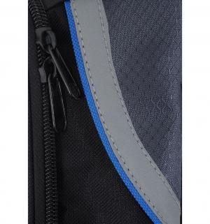 Сумка велосипедная , цвет: черный/синий Bradex