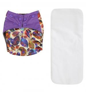 Подгузник  Premium Fashion + 1 вкладыш сиреневый (3-16 кг) шт. Bamboola
