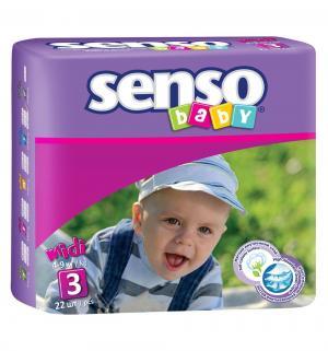 Подгузники  Midi (4-9 кг) 22 шт. Senso Baby