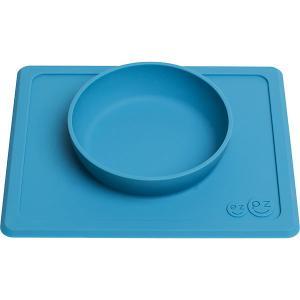 Тарелка с подставкой  Mini Bowl серая Ezpz