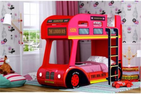 Подростковая кровать  двухъярусная Compact автобус Лондон Red River