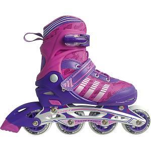 Роликовые коньки  Soft Tech Team. Цвет: фиолетовый