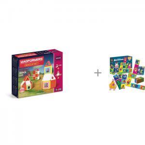 Конструктор  Build Up Set Магнитный 50 элементов и Vladi Toys Настольная игра Crazy Домино Magformers