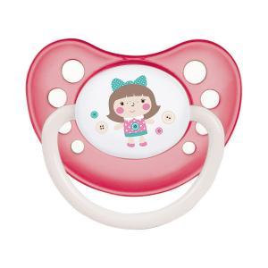 Пустышка  Toys анатомическая латекс, с рождения, цвет: розовый Canpol