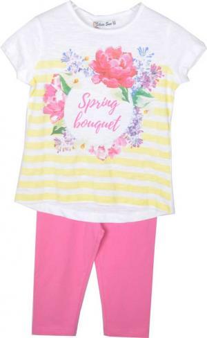 Комплект футболка/капри  розовый Silversun