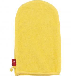 Мочалка-рукавичка  Wash & Bath, цвет: желтый Happy Baby