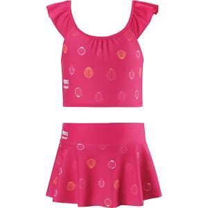 Купальник Caribic  для девочки Reima. Цвет: розовый