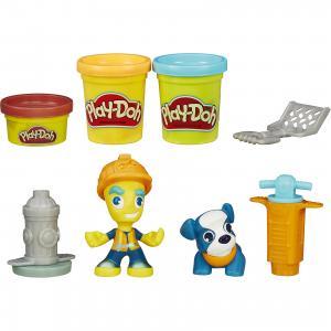 Игровой набор Play-Doh Житель и питомец, Город Hasbro. Цвет: красный