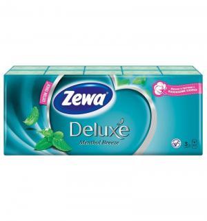 Бумажные платочки 3-х слойные ментол  Deluxe, 10 шт Zewa