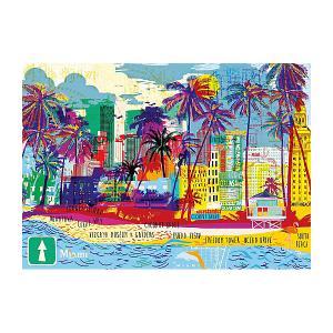 Пазл Heye Я люблю Майами, 1000 деталей