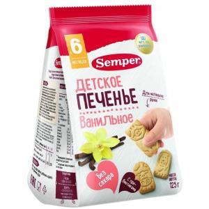 Печенье  Bio natur Фигурки Ферма ванильное, 125 г Semper