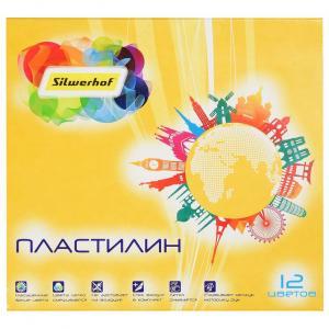 Пластилин классический  Солнечная коллекция, 12 цветов Silwerhof
