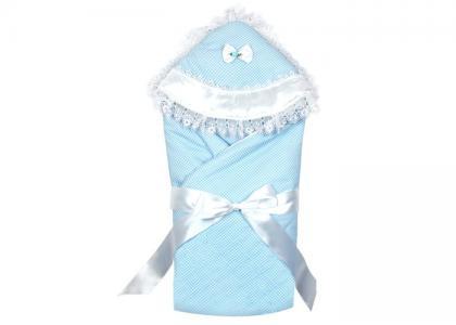 Одеяло-конверт на выписку с капюшоном Idea Kids