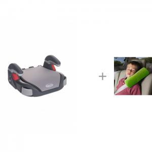 Бустер  Booster Basic и ProtectionBaby Подушка на ремень Сплюшка Graco