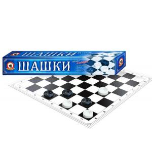 Настольная игра  Шашки в узкой коробке Русский Стиль