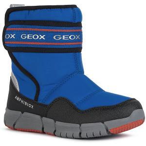 Утеплённые сапоги Geox. Цвет: синий/красный