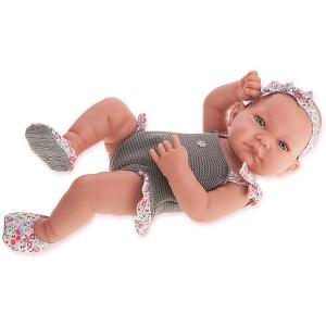 Кукла-младенец Juan Antonio Munecas Ника в сером, 42 см. Цвет: серый
