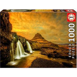 Пазл  Водопад Киркьюфетльсфос, Исландия, 1000 элементов Educa