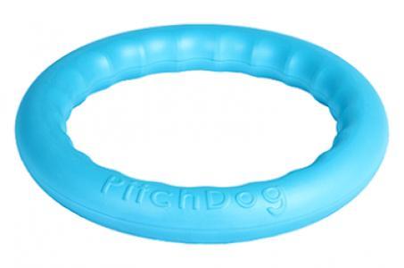 Игровое кольцо для собак  аппортировки, цвет: голубой, 28 см PitchDog