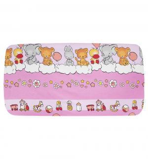 Бампер в кроватку  120х60, цвет: розовый Луняшки