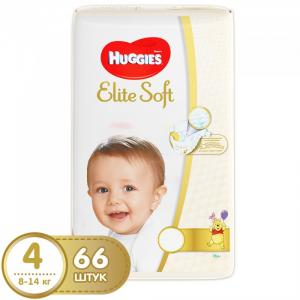 Подгузники Elite Soft Mega 4 (8-14 кг) 66 шт. Huggies
