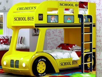 Подростковая кровать  двухъярусная Compact автобус Школьный Red River