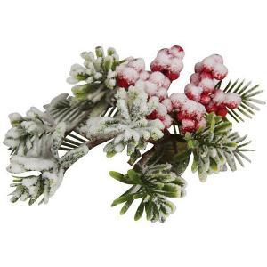 Ел.укр. RUSSIAN WINTER веточка ягоды калины в снегу, 20х12см,1шт Marko Ferenzo