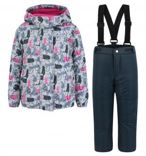 Комплект куртка/брюки  Кошачья лапка, цвет: серый Ma-Zi-Ma by Premont