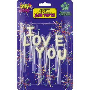 Флюоресцентная надпись из свечей Action! I LOVE YOU 8 шт