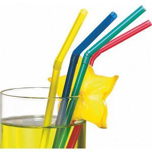 Трубочки для коктейля  50 шт, разноцветные Susy Card