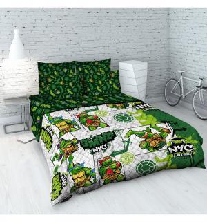 Покрывало Черепашки Ниндзя 145 х 205 см, цвет: зеленый Василек