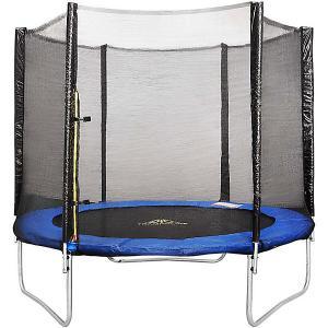 Батут  Trampoline Fitness с сеткой, 274 см DFC. Цвет: черный