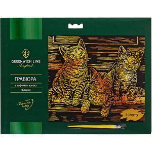 Гравюра  Кошки, с эффектом золота Greenwich Line