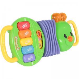 Развивающая игрушка  Музыкальная гусеница, зеленый/фиолетовый Zhorya