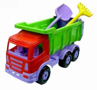 Автомобиль-самосвал Премиум с лопатой и граблями Wader