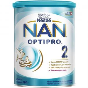 Молочная смесь  Optipro 2 с 6 месяцев, 800 г Nan